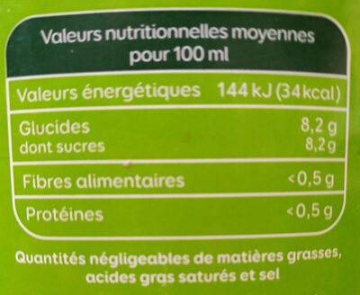 Le Bio Orange - Voedingswaarden - fr