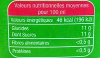 Le Bio Orange - Informations nutritionnelles