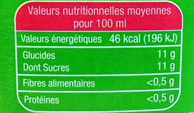 Le Bio Orange - Nutrition facts