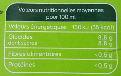 Nectar de pommes - Doux - Bio - Informations nutritionnelles - fr