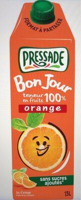 Bonjour teneur en fruits 100% orange - Product - fr