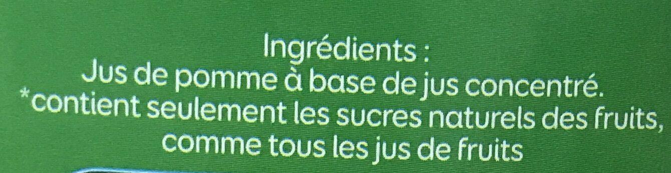 Jus de pomme sans sucres ajoutés - Ingrediënten - fr