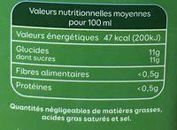 Jus de pomme sans sucres ajoutés - Voedingswaarden - fr