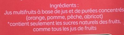 Bon jour - Jus multifruits - Ingrédients - fr
