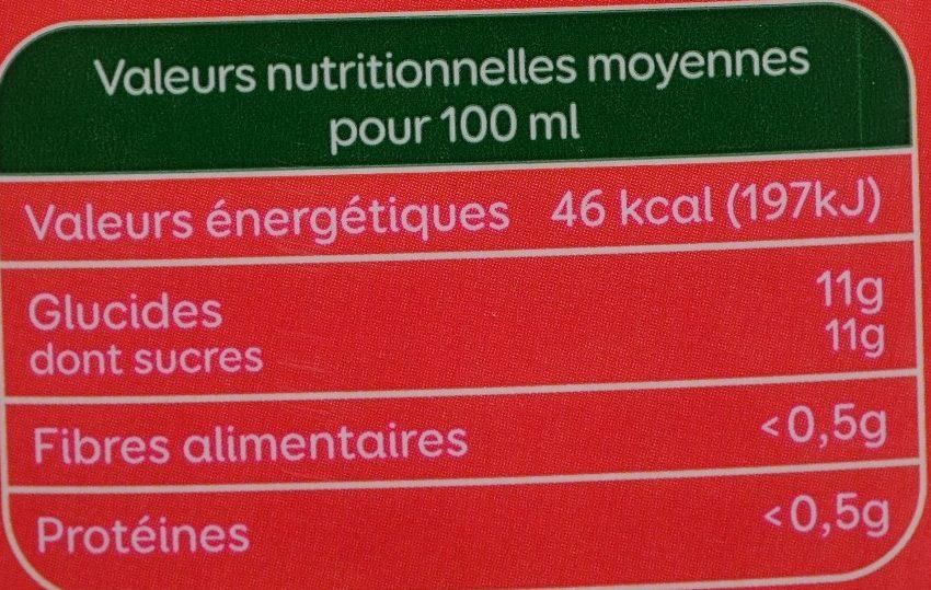 Bon jour - Jus multifruits - Informations nutritionnelles - fr