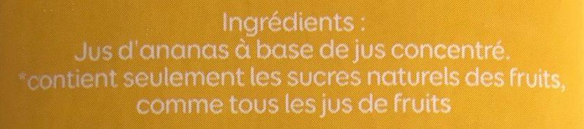 Jus d'ananas - Ingrediënten - fr