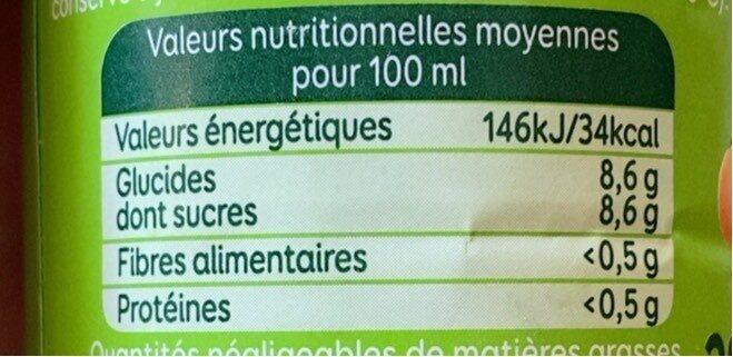 Le p'tit bio - Nutrition facts - fr