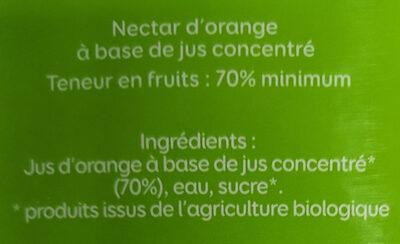 Pressade bio orange - Ingrediënten - fr
