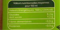 Le bio - Nectar d'orange à base de jus concentré - Voedingswaarden - fr