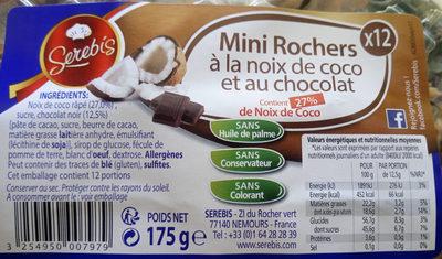 Mini Rochers à la Noix de Coco et au Chocolat - Produit