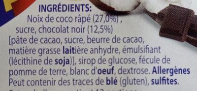 Mini Rochers à la Noix de Coco et au Chocolat - Ingrédients - fr