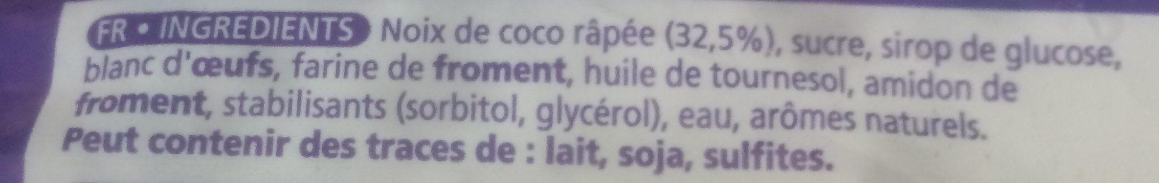 Mini Rochers Coco Serebis, - Ingrédients
