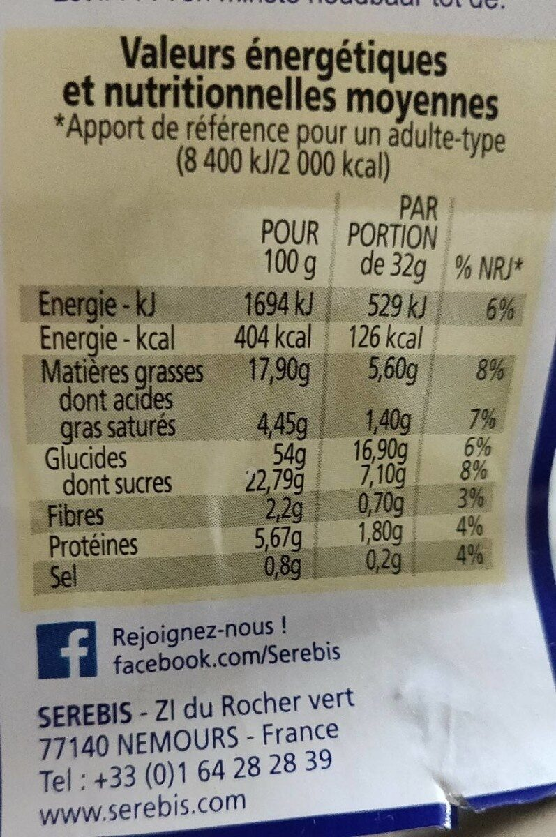 Muffins - Informations nutritionnelles - fr