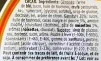 Tarte à la Crème de Cacao - Ingredients