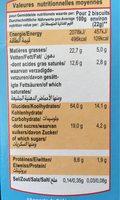 Cookies Noix De Coco - Informations nutritionnelles - fr