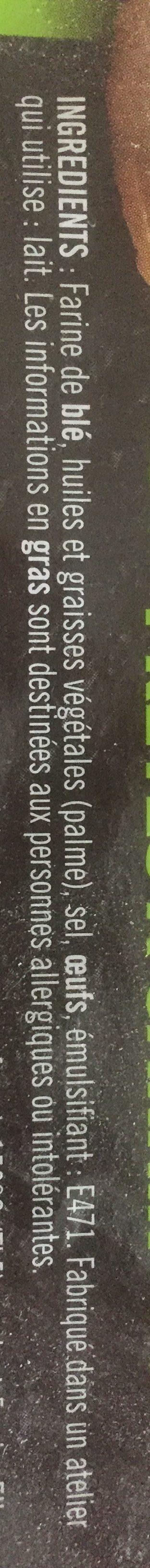 Mini bouchées feuilletées prêtes à garnir, la barquettes de - Ingrédients - fr