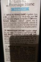 Barre Au Fromage Blanc Et Aux Oeufs Frais - Produit - fr