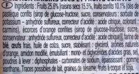 Cake au fruit - Ingrediënten - fr