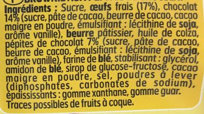 Le Brownie aux pépites de chocolat à partager - Ingrédients - fr