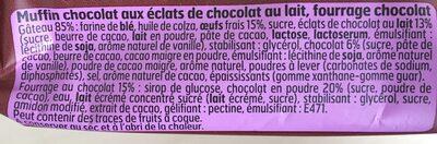 Muffins Tout Choco et Maxi Pépites Choco Lait - Ingrediënten - fr