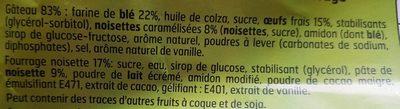 Muffin gout choco noisettes et noisettes caractérisées - Ingrédients - fr