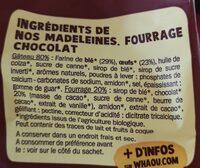 Madeleines bio chocolat - Ingredients - fr