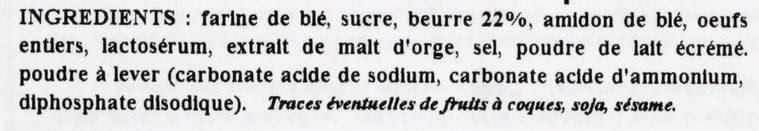 Les Cotentines - Galettes Sablées - Ingrédients - fr