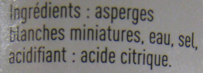 Asperges blanches miniatures Rochefontaine - Ingrédients - fr