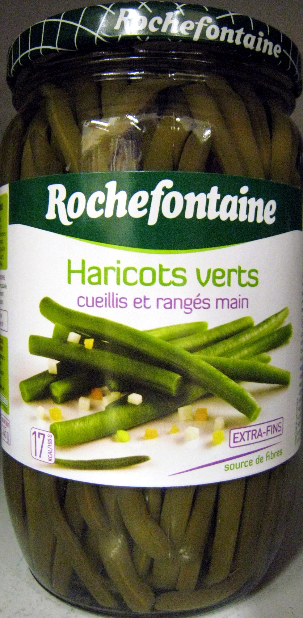 Haricots verts extra fins - 660 g - Rochefontaine - Produit