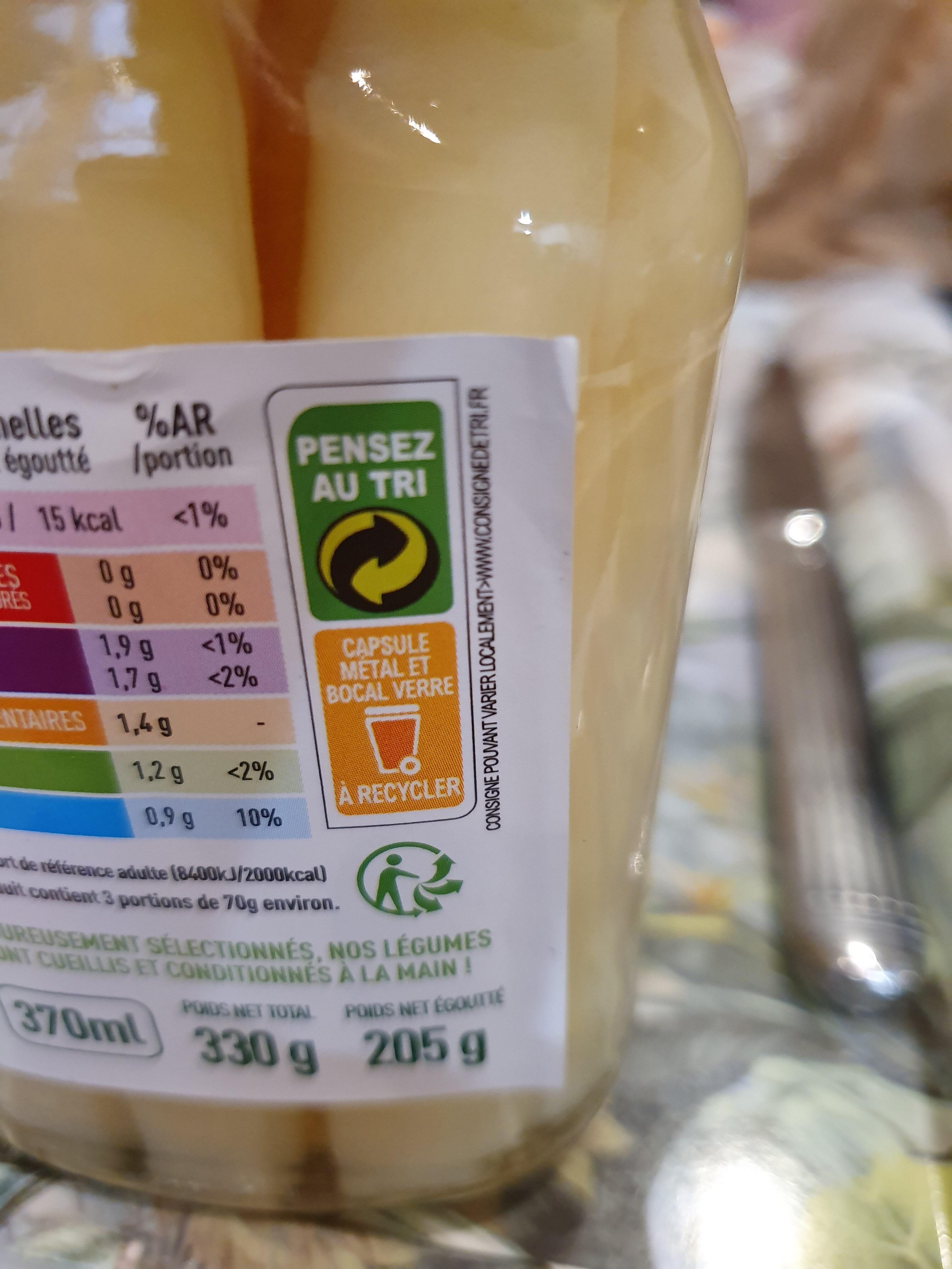 Asperges Blanches - Istruzioni per il riciclaggio e/o informazioni sull'imballaggio - fr
