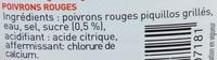Poivrons rouges piquillos grillés - Ingrédients - fr