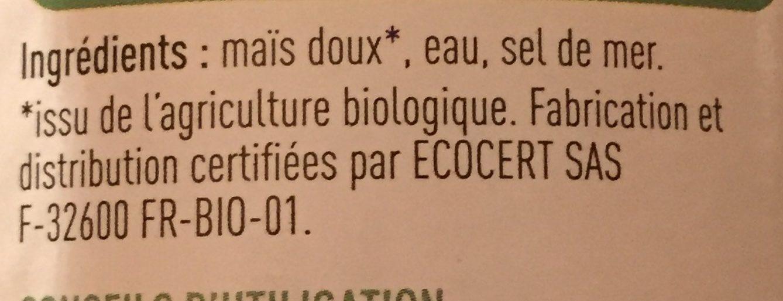 Mais Doux Bio - Ingrédients - fr