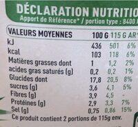 Mais Doux Bio - Informations nutritionnelles - fr