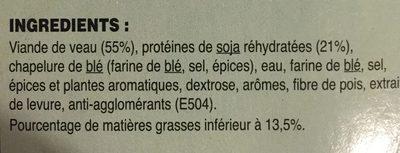 Rissolettes de veau - Ingrédients