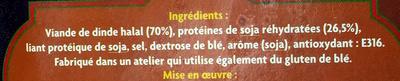 Burgers de dinde Halal - Ingrédients - fr