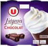 Dessert liégois chocolat et crème fouettée - Product