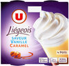 Dess.liégeois vanille s/lit caramel & crème fouetée - Produit