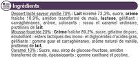 Dessert liégois saveur vanille sur lit de caramel et crème fouettée - Ingrédients - fr
