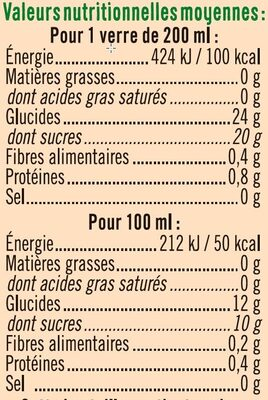 Pur jus Multifruits - Valori nutrizionali - fr