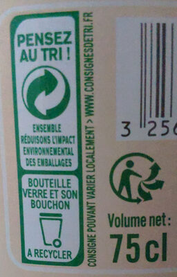 Jus de carottes - Instruction de recyclage et/ou informations d'emballage - fr