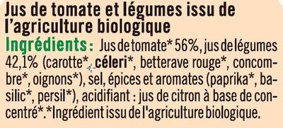 Jus de légumes salé - Ingredients