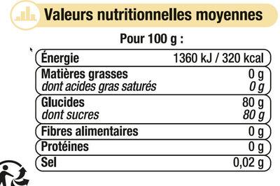 Miel crémeux Mille fleurs - Voedingswaarden - fr