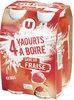 Yaourt à boire sucré saveur fraise - Product