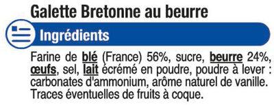 Galettes bretonnes pur beurre - Ingrédients - fr