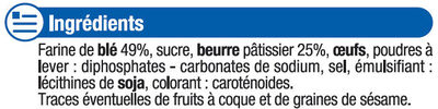 Palets bretons pur beurre - Ingredients