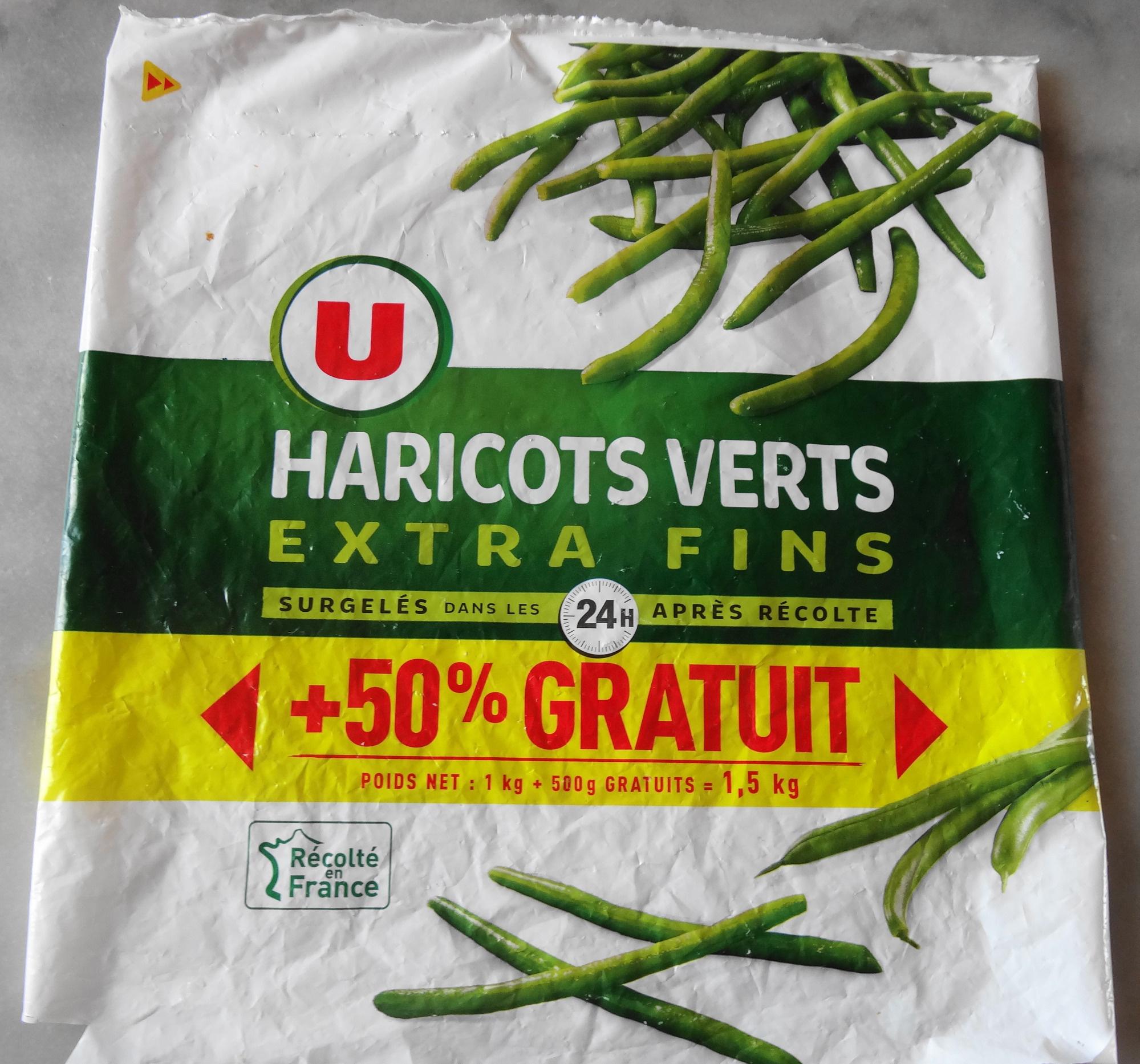 haricots verts extra fins surgel s 50 gratuit u 1 5 kg. Black Bedroom Furniture Sets. Home Design Ideas