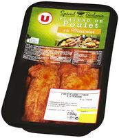 Plateau de poulet mariné 2 hauts de cuisses + ailes Mexicain - Produit - fr