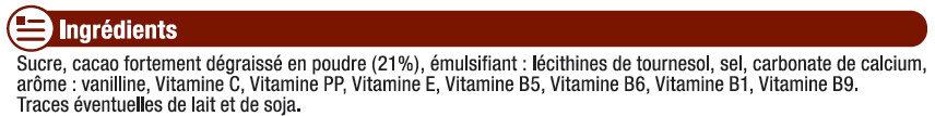 Boisson chocolatée 7 vitamines granulée - Ingrédients - fr