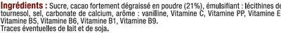 Boisson super chocolatée en granulé 7 vitamines et calcium - Ingrédients - fr