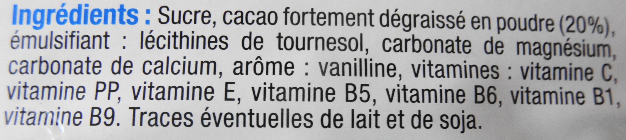 Choco Petit Déjeuner - Ingrédients - fr